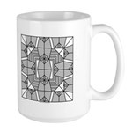 Gray Owls Design Large Mug