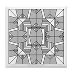 Gray Owls Design Tile Coaster