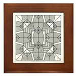 Gray Owls Design Framed Tile