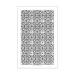 Gray Owls Design Mini Poster Print