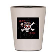 rockinAUTmama-blkstarrybg-pin Shot Glass