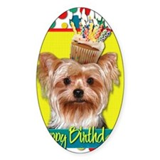 BirthdayCupcakeYorkie Decal