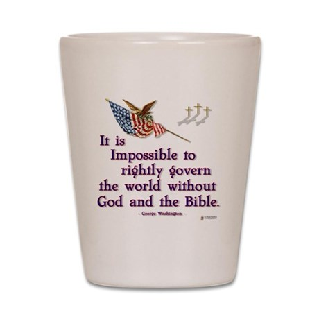 god and the bible Shot Glass