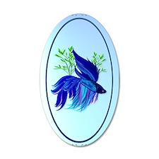 OvalJewelBig Blue Siamese Fi Wall Decal