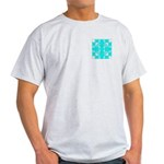 Cyan Owls Design Light T-Shirt