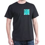 Cyan Owls Design Dark T-Shirt