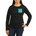 Cyan Owls Design Women's Long Sleeve Dark T-Shirt