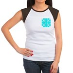 Cyan Owls Design Women's Cap Sleeve T-Shirt