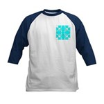 Cyan Owls Design Kids Baseball Jersey