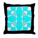 Cyan Owls Design Throw Pillow