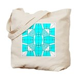 Cyan Owls Design Tote Bag