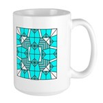 Cyan Owls Design Large Mug