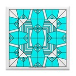 Cyan Owls Design Tile Coaster