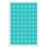 Cyan Owls Design Large Poster