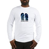 keepin it real slippers Long Sleeve T-Shirt