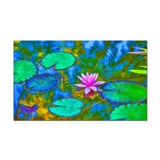 Lilypad Lotus Waterlily Brigh Rectangle Car Magnet
