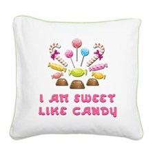 Sweet-Candy Square Canvas Pillow