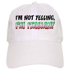 Not Yelling Italian Light Baseball Cap