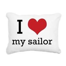 I heart my sailor Rectangular Canvas Pillow