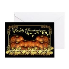 Stylish Thanksgiving Pumkin Greeting Card
