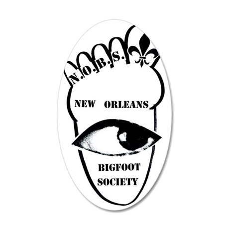 New Orleans Bigfoot Society  35x21 Oval Wall Decal