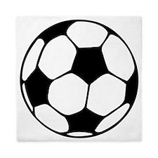soccer football black white Queen Duvet