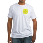 Yellow Owls Design Fitted T-Shirt