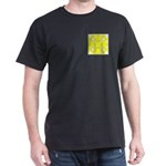 Yellow Owls Design Dark T-Shirt