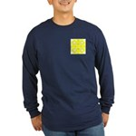 Yellow Owls Design Long Sleeve Dark T-Shirt