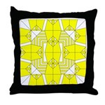 Yellow Owls Design Throw Pillow