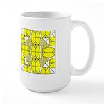Yellow Owls Design Large Mug