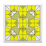 Yellow Owls Design Tile Coaster