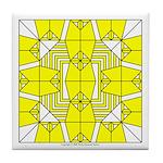 Yellow Owls Design Tile Coaster