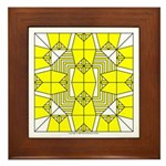 Yellow Owls Design Framed Tile