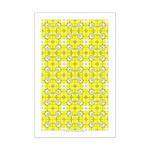 Yellow Owls Design Mini Poster Print