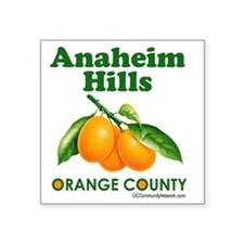 "anaheim-hills-design Square Sticker 3"" x 3"""