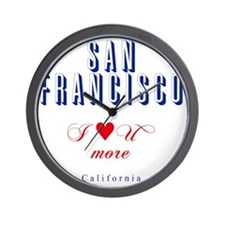 SanFrancisco_10x10_ILoveUMore Wall Clock