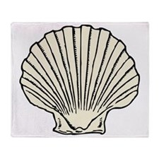 scallop_shell Throw Blanket