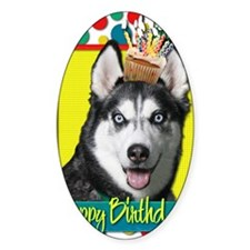 BirthdayCupcakeSiberianHusky Decal