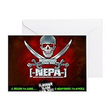 NEPA_Mousepad RED Greeting Card