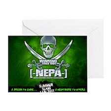 NEPA_Mousepad Green Greeting Card