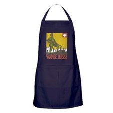 Swiss Army WWI War Poster Apron (dark)