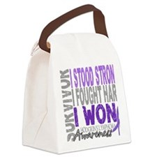 D Survivor 4 Lymphoma Hodgkins D Canvas Lunch Bag