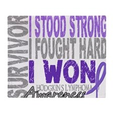 D Survivor 4 Lymphoma Hodgkins D Throw Blanket