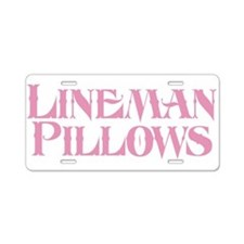 Lineman Pillows Aluminum License Plate