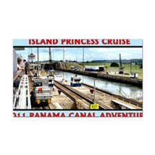 Island Princess Panama Canal  Rectangle Car Magnet