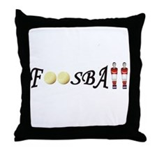 Funny Foosball Throw Pillow