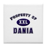 Property of dania Tile Coaster
