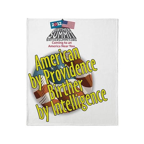 BirtherSummitShirtProvidence Throw Blanket