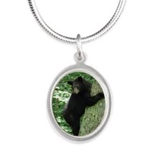 BearTree Silver Oval Necklace